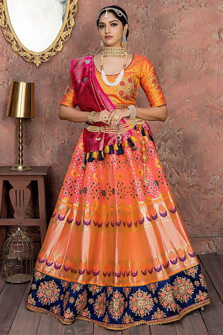 Art Silk Traditional Wear Latest Lehenga Choli Designs 2019 Images 13,Simple False Ceiling Designs For Living Room In India