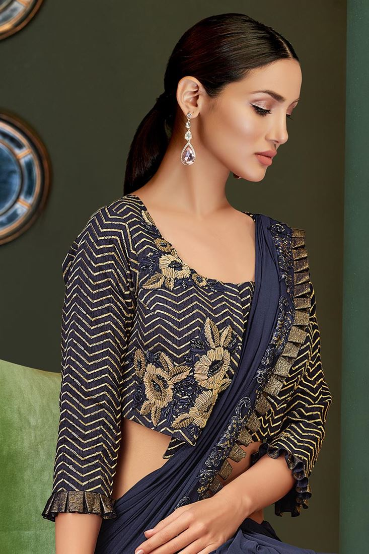 Stylish Sleeves Designer Latest Saree Blouse Designs 2020 Collection For Weddings Engagements 18